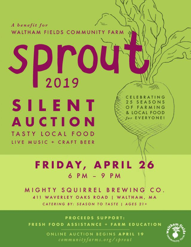 Sprout 2019 - Event tickets sold out, but anyone can bid